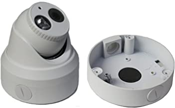 Kenuco Junction Box/Mounting Base Hikvision Turret Camera DS-2CD23x2 (1 Pack, White)