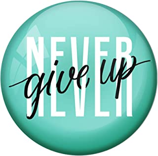 AVI Green Metal Fridge Magnet with Positive Quotes Never give up Green Design MR8001023