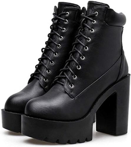 HBDLH Chaussures pour Femmes Plate - Forme D'Imperméables Pente Talons 11Cm La Hauteur du Talon épais Talon épais étanches Bas Plate - Forme La Pente Talons noir Trente - Huit