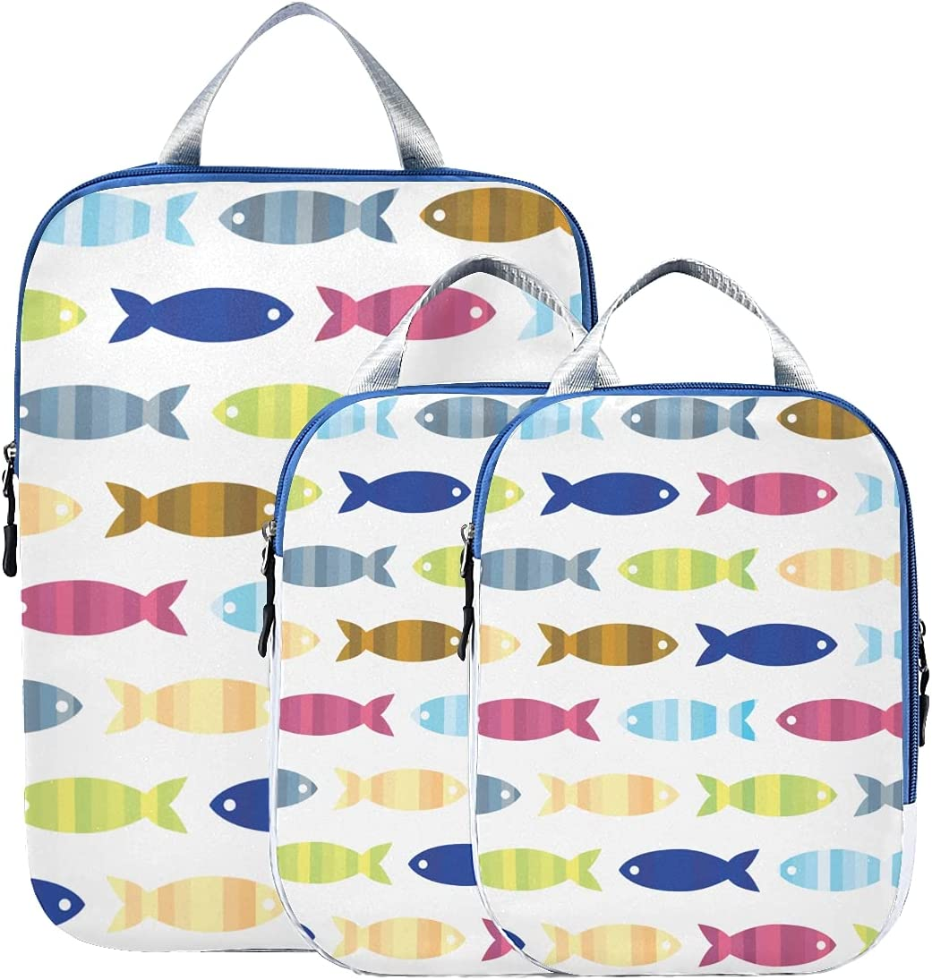 Over item handling Packing Cube NEW Set Fish Supply Compression Summer Colorful