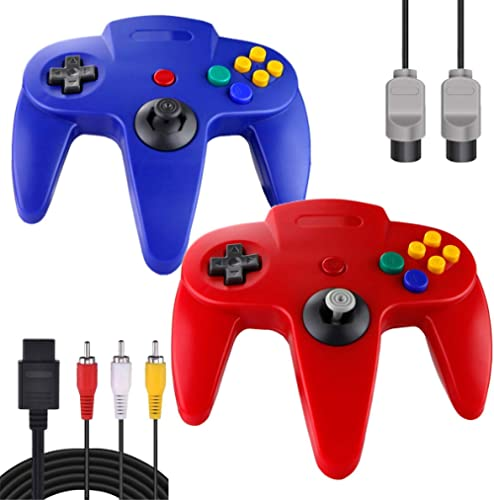 ZeroStory Classic N64 Controller, Wired N64 Controller Joystick with 5.9 Ft N64 AV Cable for N64 Video Game Console (...