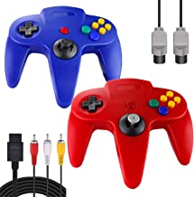 $23 » ZeroStory Classic N64 Controller, Wired N64 Controller Joystick with 5.9 Ft N64 AV Cable for N64 Video Game Console (Red a...