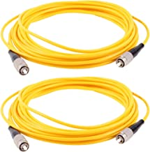 uxcell 2pcs Simplex Singlemode FC to FC Fiber Optic Patch Jump Cable Yellow