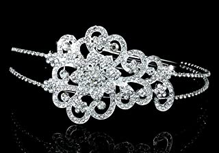 Exquisite Bridal Side Headpiece Vintage Style Art Deco Tiara
