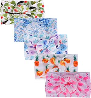 Newest Baby Headbands Girl Turban Knotted Bows Soft Silk Nylon Headwraps For Newborn Infant Toddlers Girl Kids