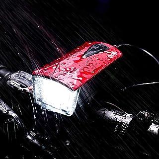 Lanterna Bike Com Buzina Bicicleta Vermelho