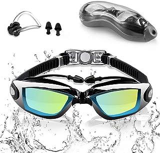 Sebami Gafas de natación, Gafas para Nadar Protección UV antivaho gogles para Natacion Gafas de natación Ajustables para A...