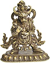 Antique Copper Tibetan Buddhism Vajra Law-King Buddha Statue for Living Room Ornament