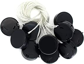 CR2032 Coin Button Battery Holder Socket Plastic Cell Round Battery Case Cover Wire Leads Cable Type with ON/Off Switch (10 of Pack)