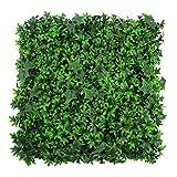 WAA Simulazione Pianta Muro Balcone Plastica Pianta Verde Parete Foglia Sempreverde Prato Fiore Appeso A Parete Decorazione Giardino Erboso per Interni Ed Esterni