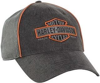 Men's Nostalgic Bar & Shield Baseball Cap BC31380 Black