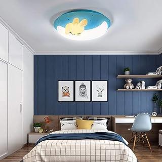 LED Lights De Ceiling Enfants, 46W Dimmable Lampe avec Abat-Jour en Acrylique Night Light Accessoires Garçon Plafond Lampe...