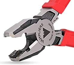 """VAMPLIERS. World's Best Pliers. 8"""" Pro Lineman's Screw Extraction Pliers. Specialty Screw Extractions Pliers. Extract Stri..."""