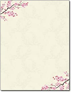 Cherry Blossoms Stationery Paper - 80 Sheets