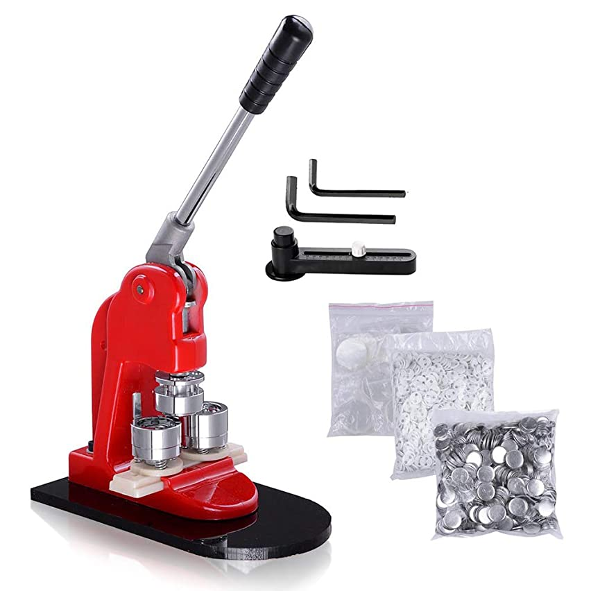 WeChef Button Maker 25mm Punch Press Machine 1 inch with 1000pcs Free Pin back Button Parts and Circle Cutter