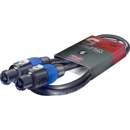 Stagg SSP2SS15 Câble Speakon-Speakon à plomb 2 m Noir