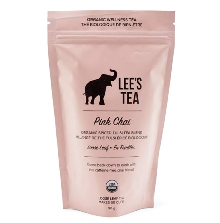 Lee's Tea Pink Chai 3 Oz Ca Max 75% Mail order cheap OFF Organic Blend Tulsi Spiced