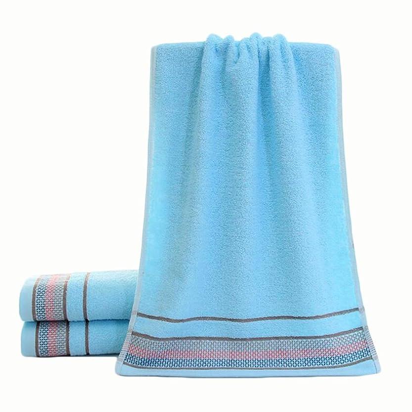 ネコアート排気CXUNKK 2PCS / LOT家庭用増粘吸収ソフトジャカード綿タオル (Color : Blue)