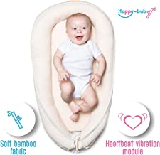 Happy-bub Bamboo Baby Pillow Bed Lounger: Portable Sleeper Nest for Infant-Beige