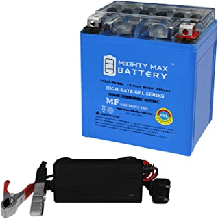 Mighty Max Battery YTX7L-BS Gel Replaces Suzuki DR125, RV125, DR200 + 12V 1Amp Charger Brand Product