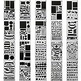 20 PCS Journal Stencil Plastic Planner Set for Journal Notebook...