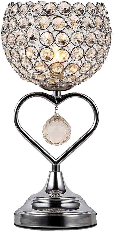 LMDH Moderne Minimalistische Kristall Tischlampe Kreative Amerikanische Schlafzimmer Nachttischlampe Kreative Romantische Warme Schreibtischlampe