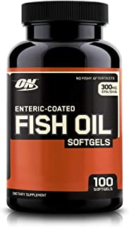 OPTIMUM NUTRITION Omega 3 Fish Oil, 300MG, Brain Support Supplement, 100 Softgels