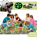 Dinosaur Toys for Kids 3-5-7, Dinosaur Figures for Boys and Girls Age 4 5 6 7 8 Years Old, Baby Play Mat (5738.5inch),Jurassic World Including T-Rex, Triceratops, etc,Party Favors Gift for Toddlers