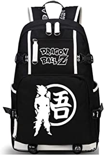 Siawasey Dragon Ball Z Anime Goku Luminous Cosplay Backpack Shoulder Bag School Bag (Black5)