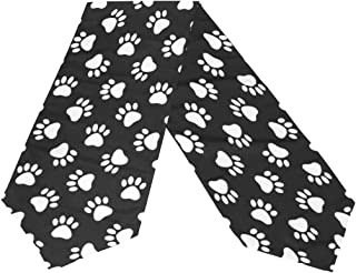WOOR Double-Sided Cat Dog Paw Print Table Runner 13 x 90 Inches Long,Table Cloth Runner for Wedding Party Holiday Kitchen Dining Home Everyday Decor