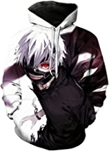 Yagao Tokyo Ghoul Women's Hoodie 3D Printing Men's Hoodie Funny Hooded Sweatshirt Hip Hop Sportswear Unisex Hoodie