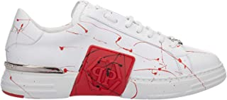 PHILIPP PLEIN Sneakers Phantom Kick$ Uomo White - Red