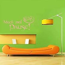 INDIGOS UG Muursticker - Muursticker - Muursticker Mach eens Pause - 111cm x 58cm lichtroze - Decoratie Keuken Woonkamer Muur