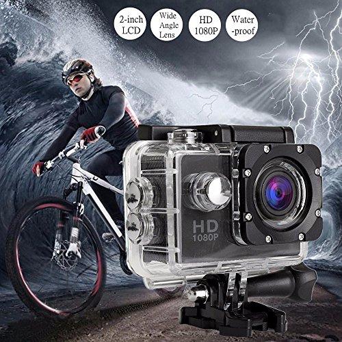 aiyvi Caméscope vidéo DVR Cam DV Plein d'action de Sports HD complètement HD 1080P imperméable