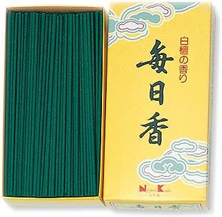 Mainichi-Koh Sandalwood Incense 300pcs Incense Sticks by NIPPON KODO, Japanese Quality Incense, Since 1575