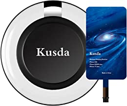 Qi iPhone Wireless Charger kit Kusda Wireless Charging Pad with iPhone Qi Receiver For iPhone 7 plus , 7, 6s Plus, iPhone 6s, iPhone 6 plus, iPhone 6 , iPhone 5 , 5s