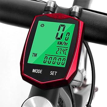 Computadora de Bicicleta, Cuenta Kilometros Bici LCD Velocimetro Bicicleta: Amazon.es: Deportes y aire libre