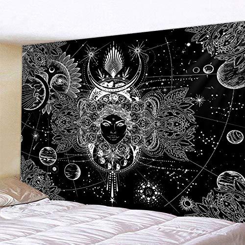 PPOU Tapiz de decoración del hogar de meditación de Buda Indio Tapiz de Mandala Hippie brujería Manta de Tela de Fondo Bohemio A1 100x150cm