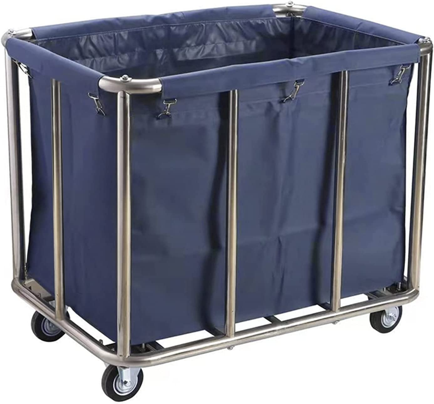 Laundry Basket Collector Trolley Max 40% discount OFF Duty Heavy L Commercial