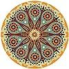 (アンコール) Enkore 吸収仕様 ドリンクコースター2点セット セラミックストーン 曼荼羅 オレンジ ボーナスコースター付きさまざまなデザインと色展開