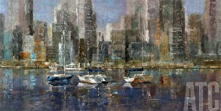ArtToCanvas 48W x 24H inches : City Bay by Michael Longo - Paper Print ONLY