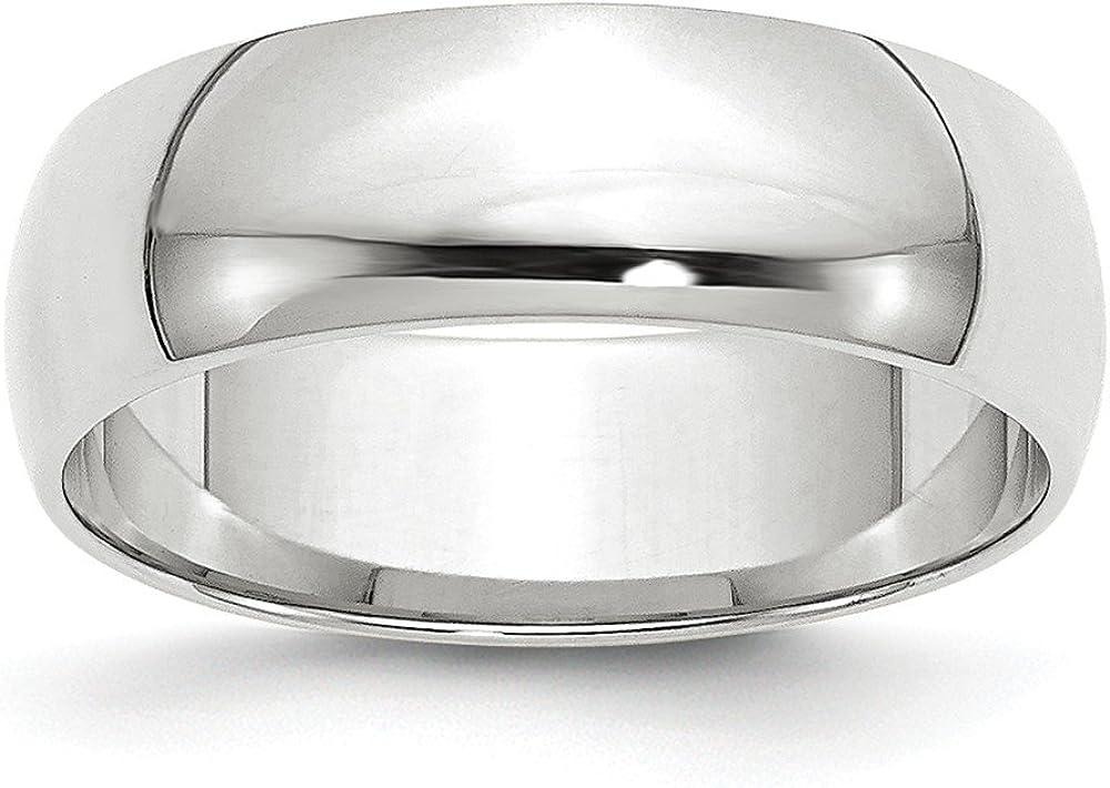 10k Regular dealer White Gold 6mm Attention brand Plain Band Wedding Dome Ring Classic