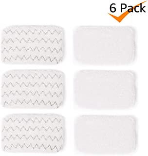 Bonus Life Steam Mop Pads 1252 for Bissell Symphony Steam Mop 1132 1132K 1132P 1132R 1132X 1530 1543 1543T 1632 1652, 6 Pack
