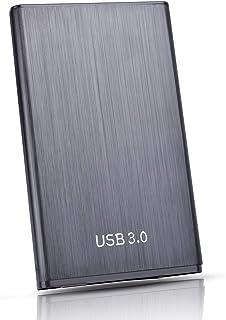 HDD 外付け ハードディスク 超薄型 ポータブル HDD SATA 2.5 インチ ハードディスク USB3.0 Mac/Ps5/Pc/Xbox/TV 対応 耐衝撃(2TB,黒)