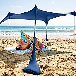 SUN NINJA pop-up beach tent.