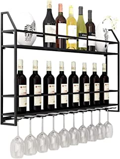 Organisation de rangement de cuisine Support mural européen pour casier à vin en métal sur pied  Support de rangement mur...