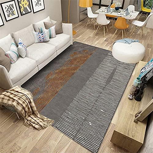alfombras dormitorio Gris Alfombra de sala de estar gris borroso patrón vintage rayado con alfombra duradera multi-tamaño alfombra comedor 100X200CM centro de mesa decorativo comedor 3ft 3.4''X6ft 6.7
