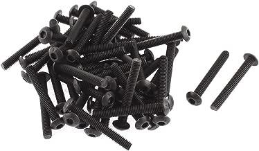 uxcell M4x30mm Thread Button Head Hex Socket Cap Screw Bolt 50pcs
