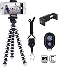 Phone Tripod, Linkcool Octopus Flexible Tripod with Wireless Remote, Phone Holder Mount Use as iPhone Tripod, Cell Phone Tripod, GoPro Tripod, Camera Tripod, Travel Tripod,Tabletop Tripod for iPhone