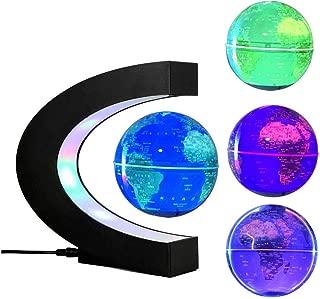 FUZADEL Multi-Color Changing Levitating Globe Magnetic Levitation Floating Globe World Map Educational Gifts for Kids / Teens Home / Office Desk Decoration Ornament